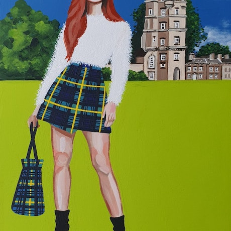 (CreativeWork) Clan Gordon by Pascale Garlinge. Acrylic Paint. Shop online at Bluethumb.