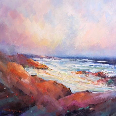 (CreativeWork) Bay of Fires No 2 by Liliana Gigovic. Oil Paint. Shop online at Bluethumb.