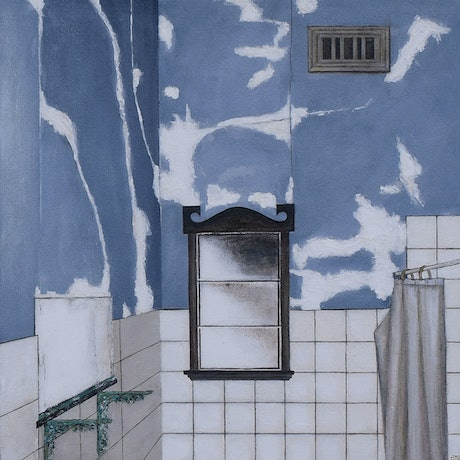 (CreativeWork) Neglected Bathroom, Caulfield by Pauline Bailey. Acrylic Paint. Shop online at Bluethumb.
