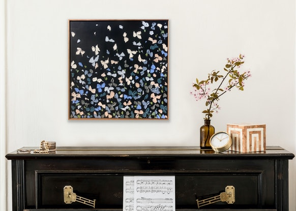 (CreativeWork) Flowers 48 - Night by Kerry Leigh. Acrylic Paint. Shop online at Bluethumb.