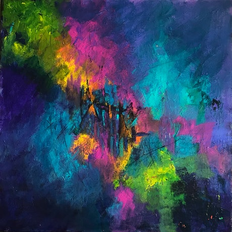 (CreativeWork) 'Gate To Eternity' by Helen Tainsh. Acrylic. Shop online at Bluethumb.