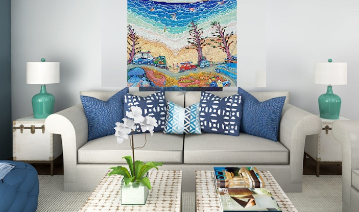 (CreativeWork) 'SURF CLASSIC' by Robert Den Ronden. Acrylic Paint. Shop online at Bluethumb.