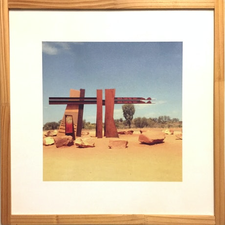 (CreativeWork) Red Centre Way by Vanessa Bertagnole. Photograph. Shop online at Bluethumb.