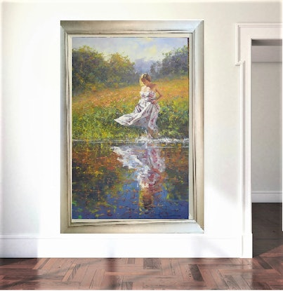 (CreativeWork) WARM FEELINGS - by Robert Hagan   by Robert Hagan. Oil Paint. Shop online at Bluethumb.