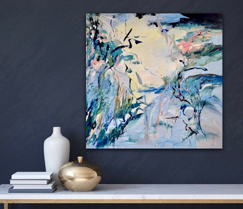 (CreativeWork) Luminosity by Sue Woolnough. Acrylic Paint. Shop online at Bluethumb.