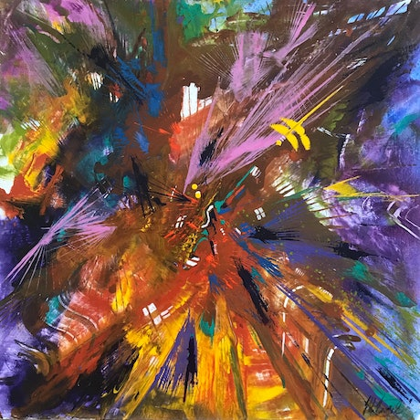 (CreativeWork) Light Show by Helen Tainsh. Acrylic. Shop online at Bluethumb.