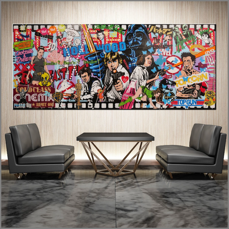 (CreativeWork) Cinematica 240cm x 100cm Star Wars Urban Pop Art Textured Sugar Spray Gloss Finish FRANKO by _Franko _. Mixed Media. Shop online at Bluethumb.
