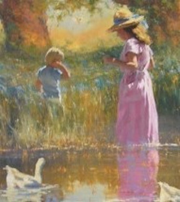 (CreativeWork) 'A PRIVATE PLACE'  by ROBERT HAGAN  - HIGHLY COLLECTIBLE by Robert Hagan. Oil Paint. Shop online at Bluethumb.
