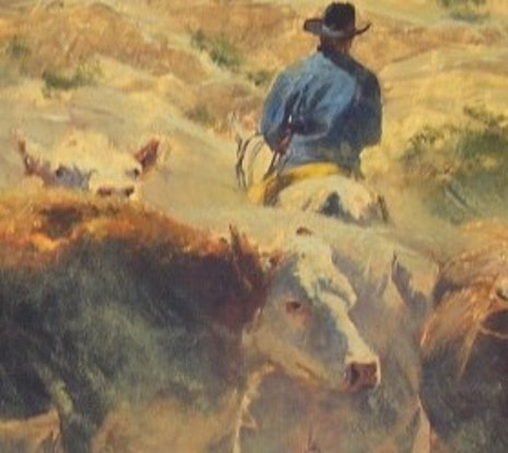 (CreativeWork) 'THE ROUND UP' - Collectible Investment Art,  Australiana by Robert Hagan. Oil Paint. Shop online at Bluethumb.