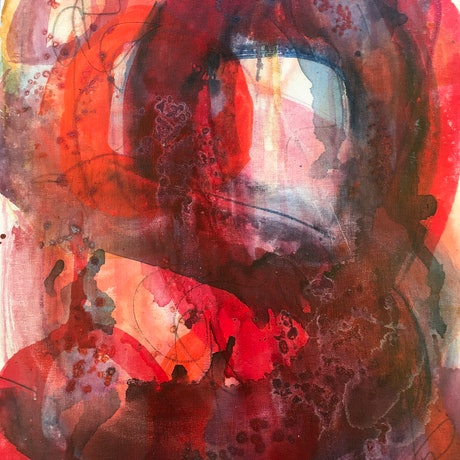 (CreativeWork) Tunnel Vision #2 by sue carter. Mixed Media. Shop online at Bluethumb.
