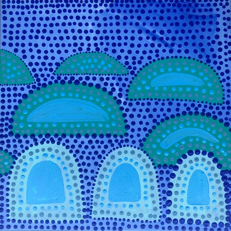 (CreativeWork) The Deep Blue by Abstract Momo. Acrylic Paint. Shop online at Bluethumb.
