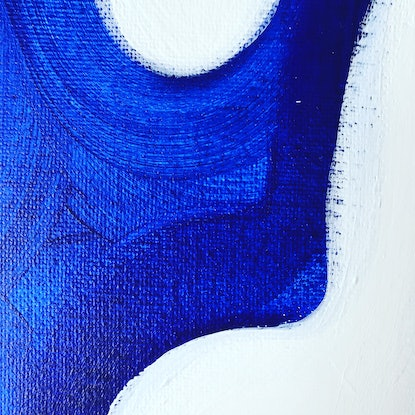 (CreativeWork) The Bluest of Blues by Maggi McDonald. Acrylic Paint. Shop online at Bluethumb.