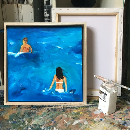 (CreativeWork) First Swim Of The Season by Marnie McKnight. Acrylic Paint. Shop online at Bluethumb.