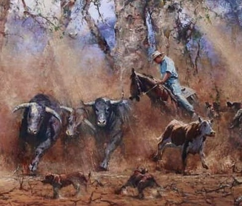 (CreativeWork) EXAMPLE OF  COMMISSION THAT CAN BE ORDERED, EACH ONE UNIQUE by Robert Hagan. Oil Paint. Shop online at Bluethumb.