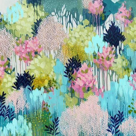 (CreativeWork) Fresh Forest by Clair Bremner. Acrylic Paint. Shop online at Bluethumb.
