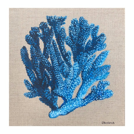 (CreativeWork) Blue Coral by Caitlin Broderick. Oil Paint. Shop online at Bluethumb.