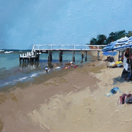 (CreativeWork) Summer's Day IV by Claire McCall. Oil Paint. Shop online at Bluethumb.