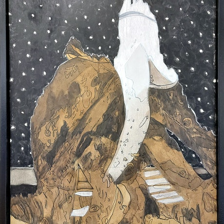 (CreativeWork) byron light house by STEVEN PERRIN. Oil Paint. Shop online at Bluethumb.