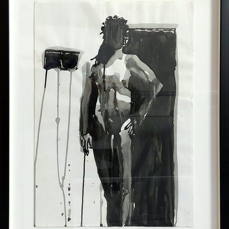 (CreativeWork) figure in doorway by STEVEN PERRIN. Other Media. Shop online at Bluethumb.
