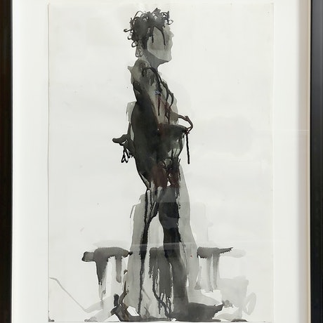 (CreativeWork) figure leaning by STEVEN PERRIN. Other Media. Shop online at Bluethumb.