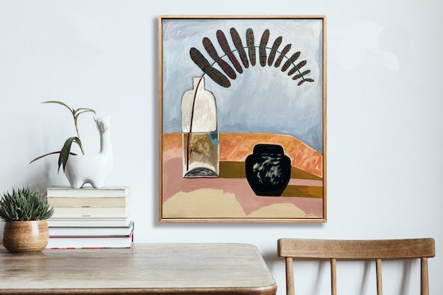 (CreativeWork) Black Ginger - Intersect Series by Sally Browne. Oil Paint. Shop online at Bluethumb.