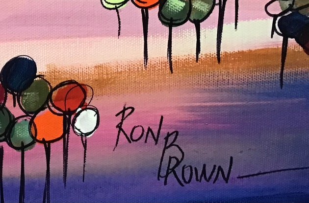(CreativeWork) Colourful Outback  by Ron Brown. Acrylic Paint. Shop online at Bluethumb.