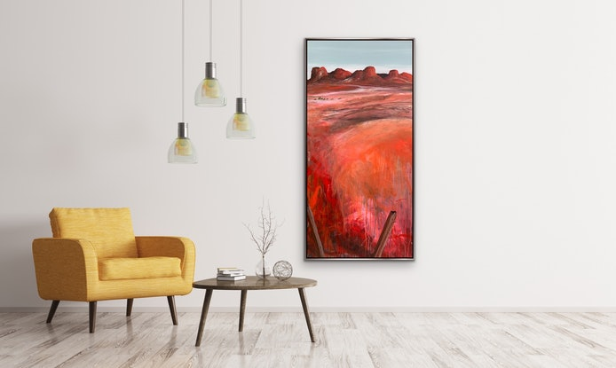 (CreativeWork) Along The Boundary  by Tania Chanter. Acrylic Paint. Shop online at Bluethumb.
