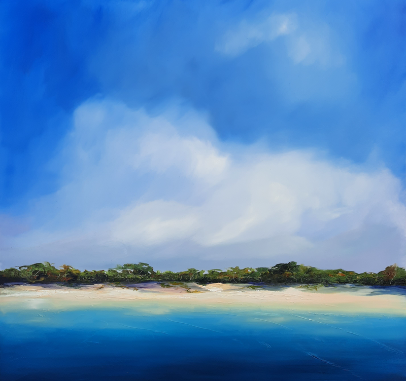 (CreativeWork) Frasercoast by Rose Knight. Oil Paint. Shop online at Bluethumb.