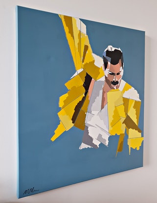 (CreativeWork) An Icon by Martin Sullivan. Acrylic Paint. Shop online at Bluethumb.
