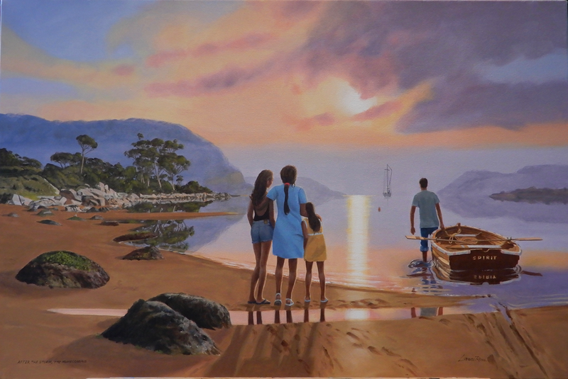 (CreativeWork) After the Storm, the Home coming by Lance Ross. Oil Paint. Shop online at Bluethumb.
