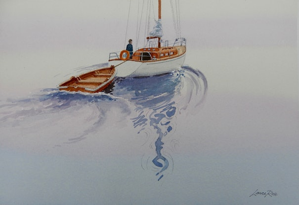(CreativeWork) The Calm of the Morning by Lance Ross. Watercolour Paint. Shop online at Bluethumb.