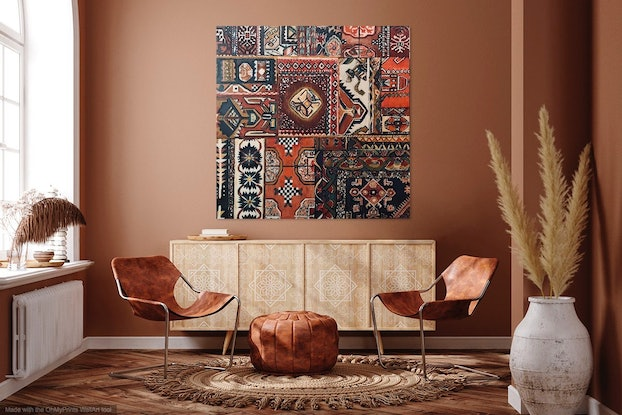 (CreativeWork) PERSIAN ORNAMENT NO 5 by LOUISE GROVE WIECHERS. Acrylic Paint. Shop online at Bluethumb.