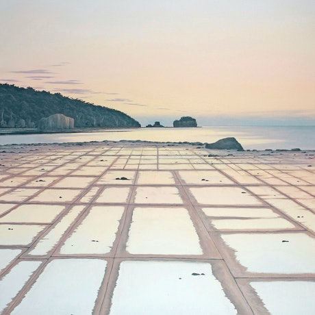 (CreativeWork) Tessellated Pavement, Eaglehawk Neck, Tasmania. by Richard Stanley. Oil Paint. Shop online at Bluethumb.