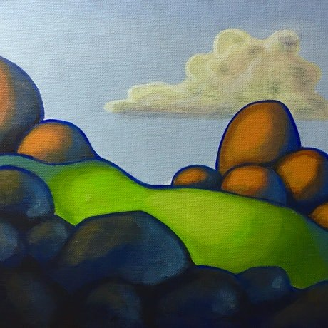 (CreativeWork) Dreamscape 1 by Ross Morgan. Acrylic Paint. Shop online at Bluethumb.