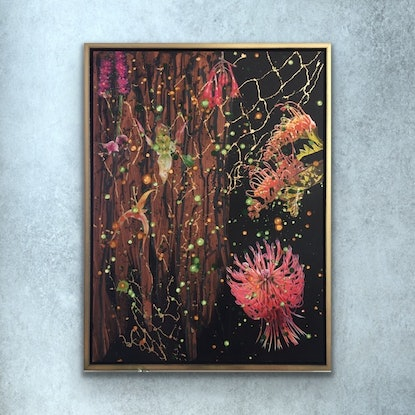 (CreativeWork) Daydreaming by erin knight. Mixed Media. Shop online at Bluethumb.