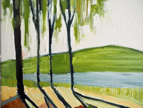 (CreativeWork) Light & Shade No.2 by Michelle Keighley. Oil Paint. Shop online at Bluethumb.