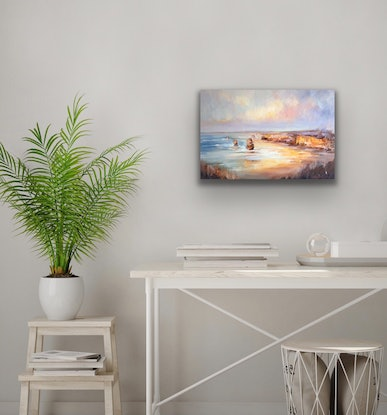 (CreativeWork) Visit Victoria - Port Campbell by Liliana Gigovic. Oil Paint. Shop online at Bluethumb.