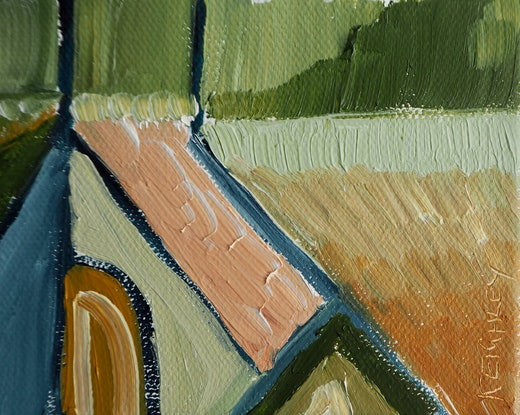 (CreativeWork) Light & Shade No.3 by Michelle Keighley. Oil Paint. Shop online at Bluethumb.