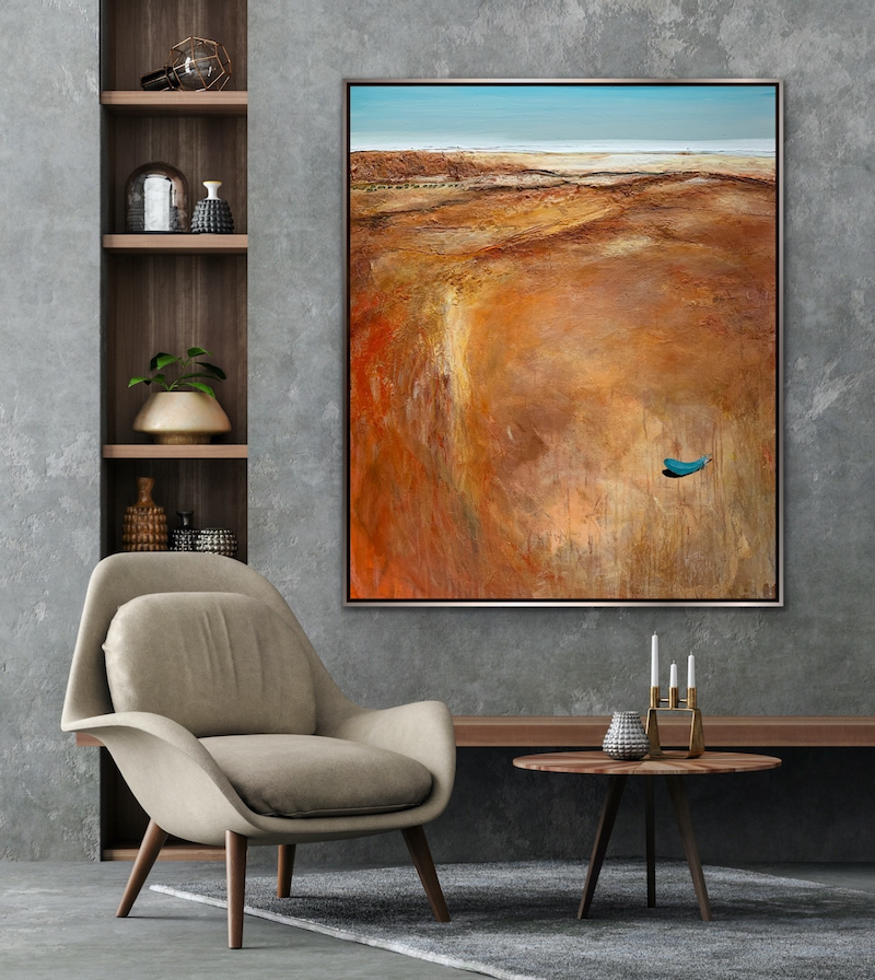 (CreativeWork) South Of The Chasm by Tania Chanter. Acrylic Paint. Shop online at Bluethumb.