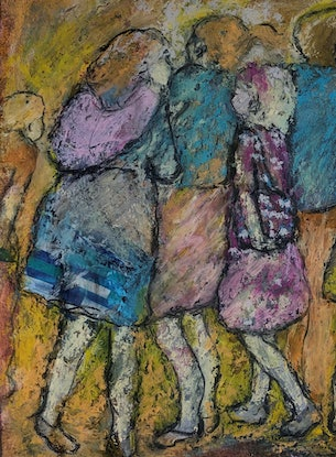 (CreativeWork) Who's Pushing?  -(framed) by Chris Rowe. Mixed Media. Shop online at Bluethumb.