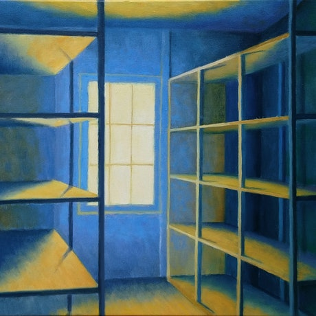 (CreativeWork) Storage 2 by Geoff Harrison. Oil Paint. Shop online at Bluethumb.