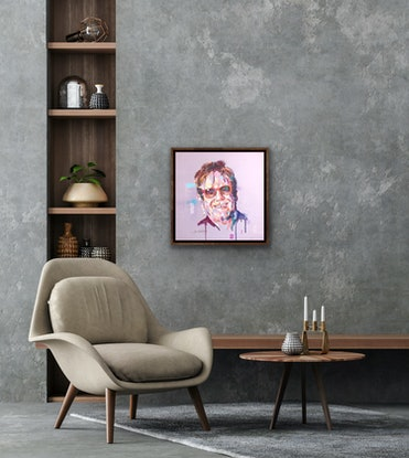 (CreativeWork) Sir Elton John by Jos Coufreur. Acrylic Paint. Shop online at Bluethumb.