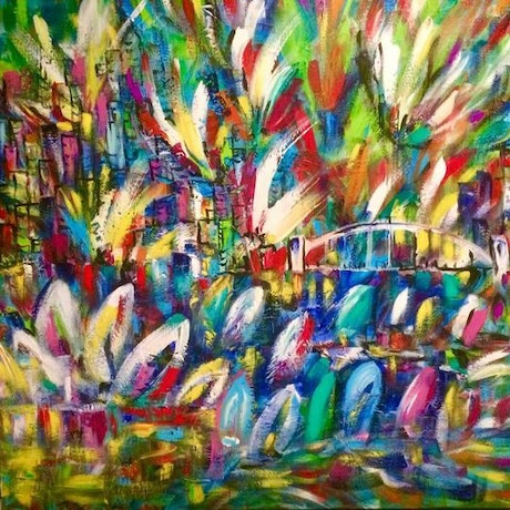(CreativeWork) New Year's Eve by Terina Jones. Acrylic Paint. Shop online at Bluethumb.