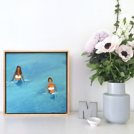 (CreativeWork) Maianbar Swim by Marnie McKnight. Acrylic Paint. Shop online at Bluethumb.