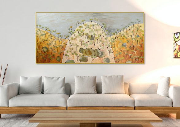(CreativeWork) Ten Foot Hill X by Michael Wolfe. Acrylic Paint. Shop online at Bluethumb.