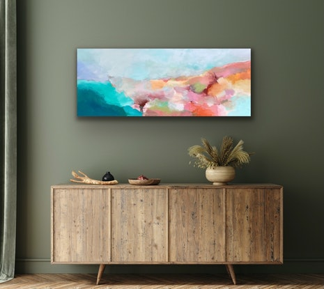 (CreativeWork) Cool Breeze  by Theo Papathomas. Acrylic. Shop online at Bluethumb.