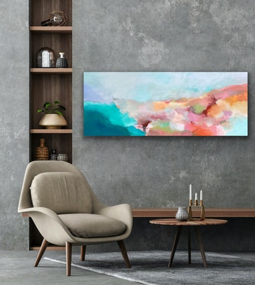 (CreativeWork) Cool Breeze  by Theo Papathomas. Acrylic Paint. Shop online at Bluethumb.