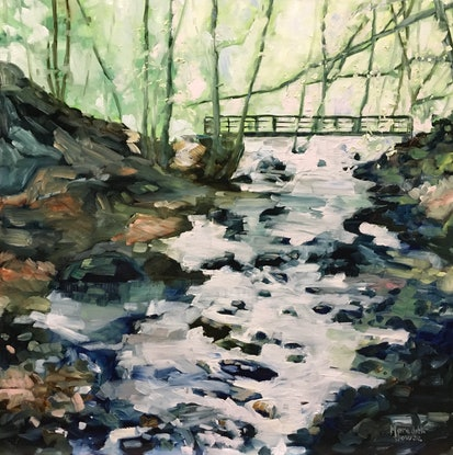 (CreativeWork) Alyth Den - Commission  by Meredith Howse. Oil Paint. Shop online at Bluethumb.