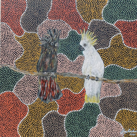 (CreativeWork) Friends_3 by Greg Matthews. Acrylic Paint. Shop online at Bluethumb.