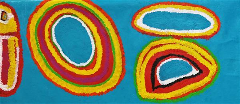 (CreativeWork) My Country #1332-19 by Netta Loogatha. Acrylic Paint. Shop online at Bluethumb.